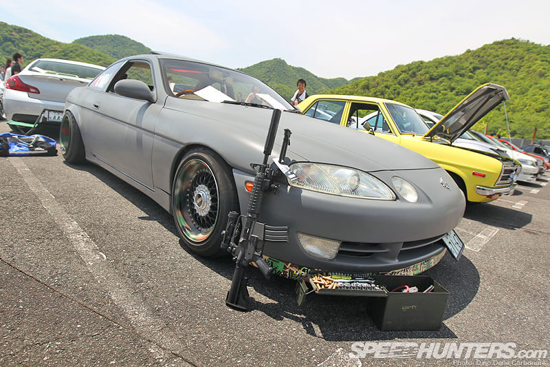 gray Soarer sporting a bit of a military theme-autocraze-Hellaflush Kansai: More Slammed Awesomeness
