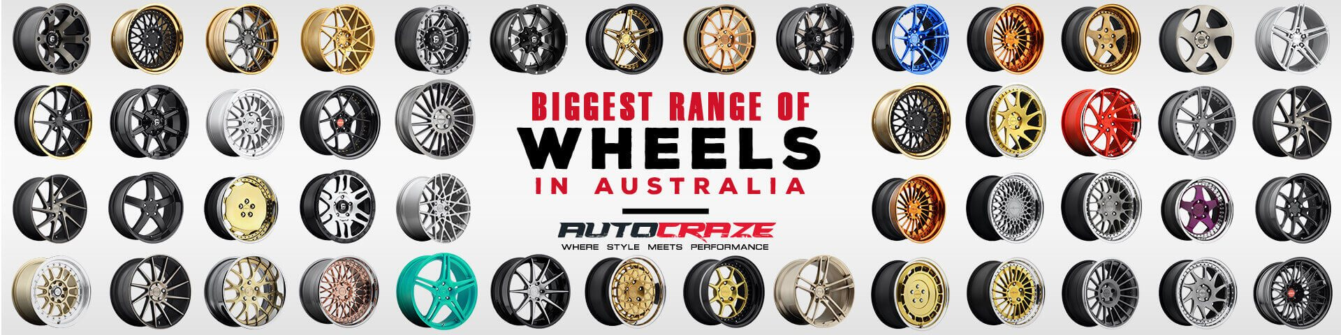 Biggest range of wheels in Australia | Autocraze