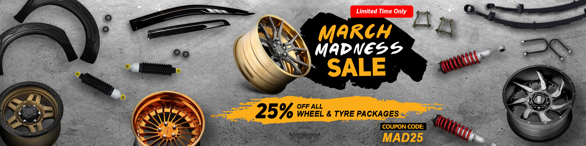 Save 25% for all wheel packages   Autocraze