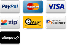 Secure Payment methods,visa,mastercards,paypal,eway,geotrust,12 zipmoney-12 months interest free finance