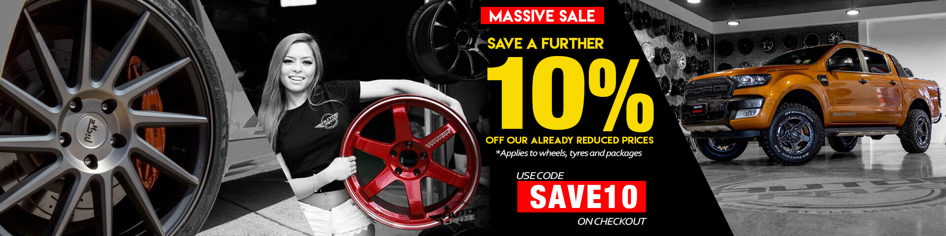Save 10% for all wheels and packages | Autocraze