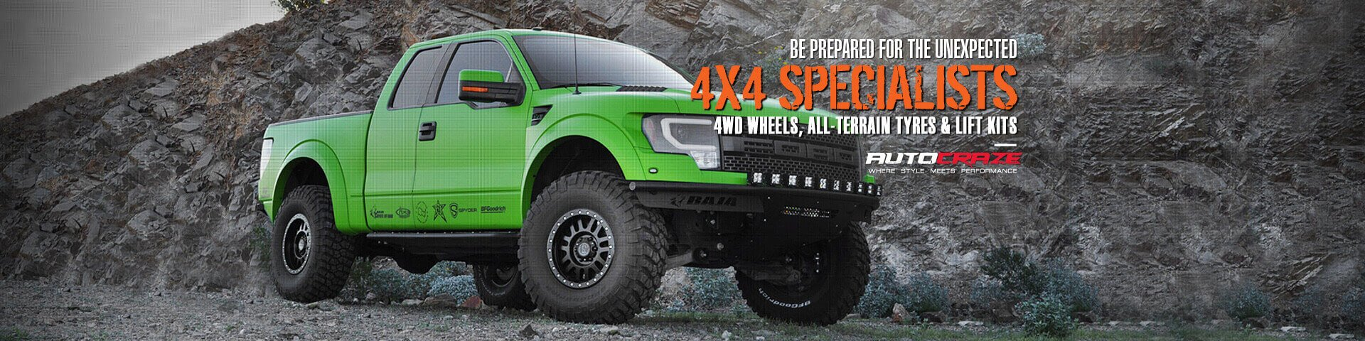 Be prepared for the unexpected | 4X4 specialists | 4wd Wheels| All Terrian Tyres & Lift Kits| Autocraze