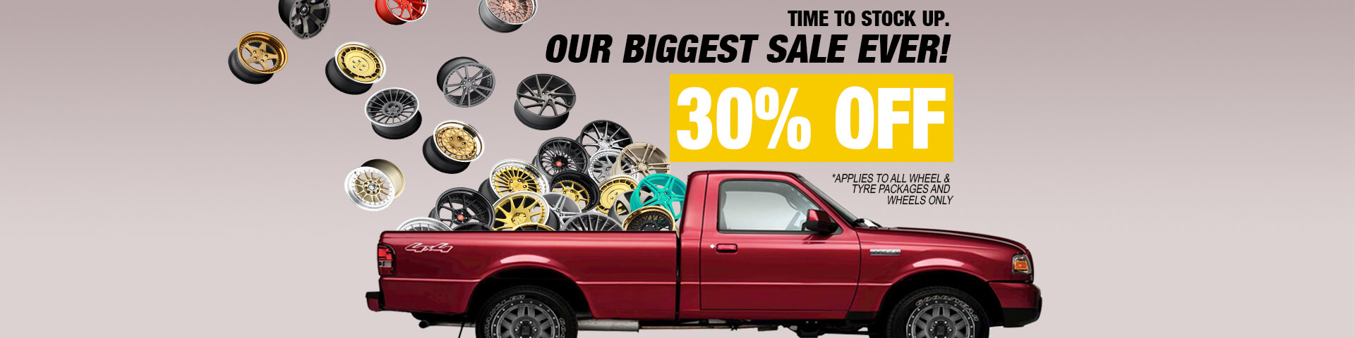 Save 30% for all wheels and packages | Autocraze