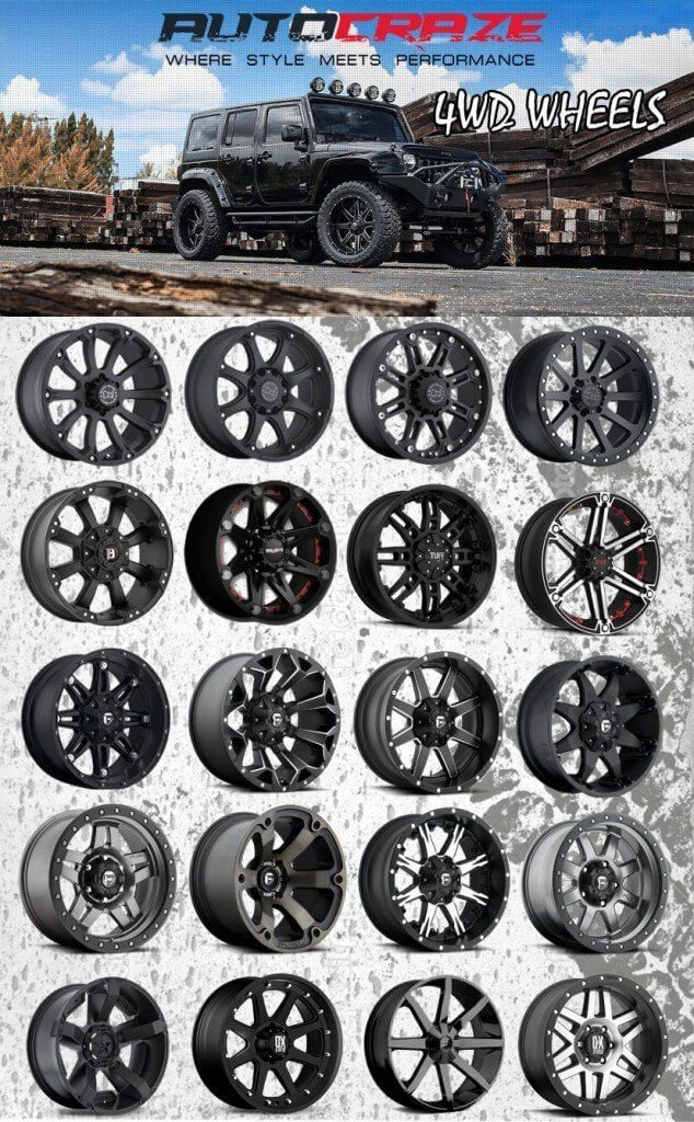 Black 4wd Rims Discounted Tough Quality Black 4x4 Wheels