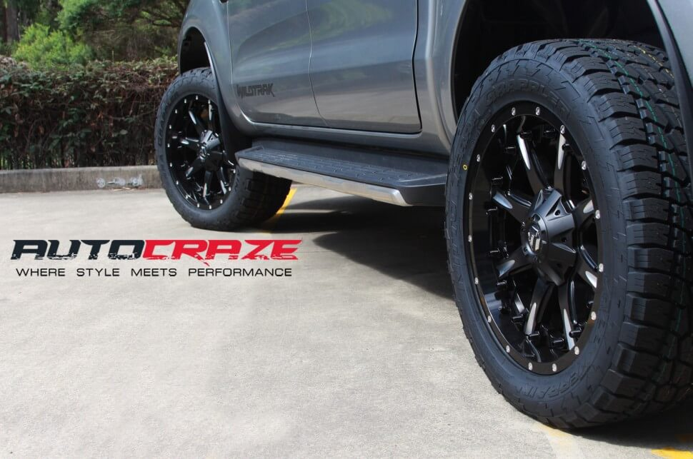 Ford Ranger Fuel Nutz 20x9 Nitto Terragrappler Close Up Shot