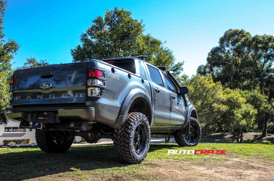 Ford Ranger Hostile Havoc Asphalt wheels nitto trail grappler tyres rear shot