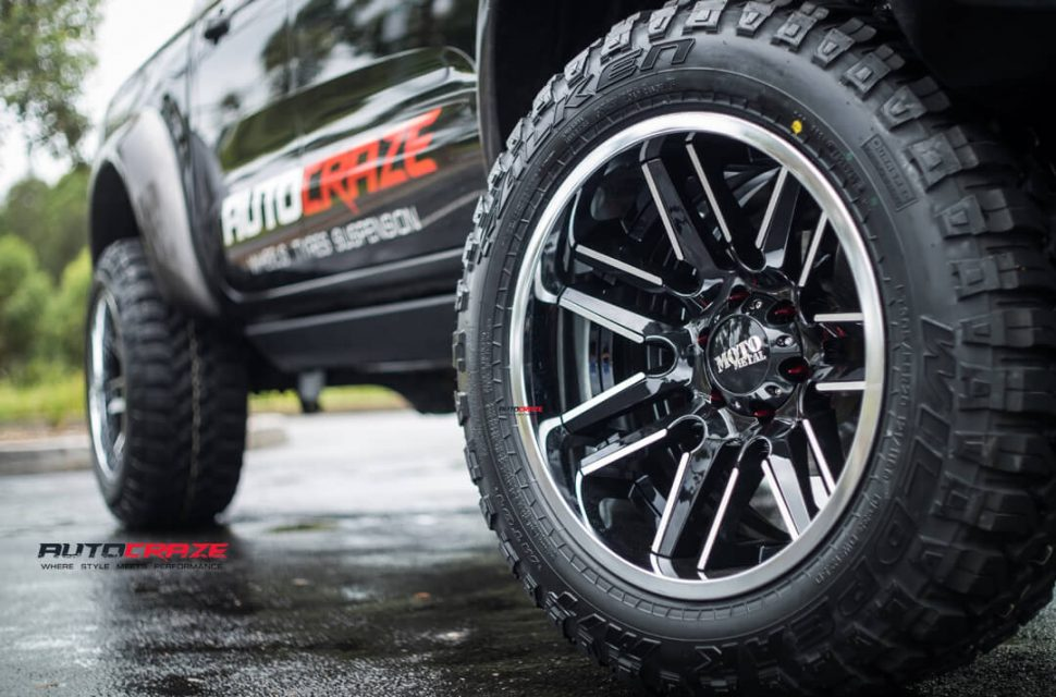 Ford Ranger Moto Metal MO202 Wheels Falken Tyres Front Fitment Close Up Shot April 2018