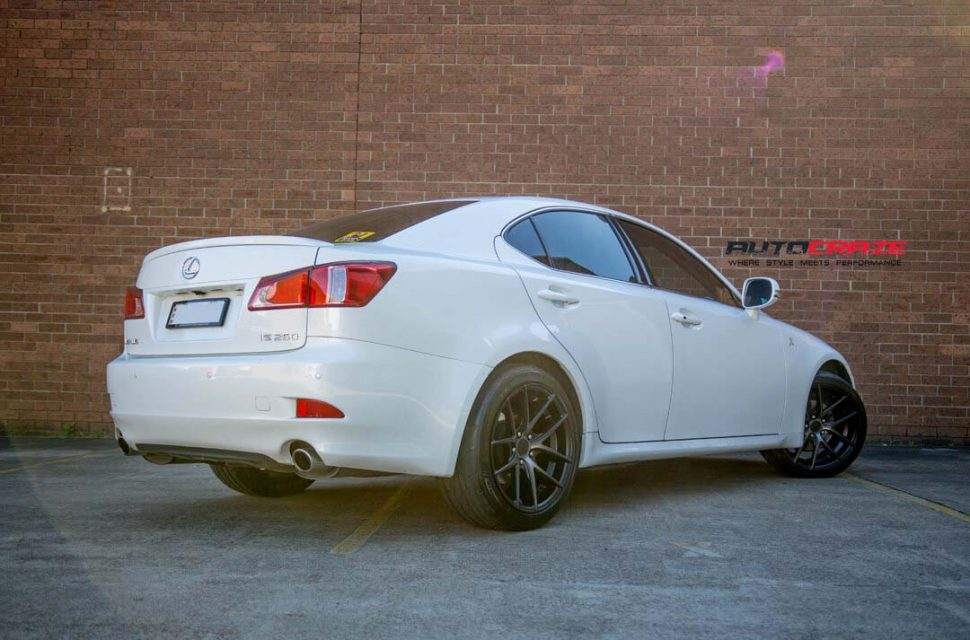 ... Lexus IS250 With Niche Targa Wheels And Potenza Tyre Rear Wide Angle  Shot March 2018