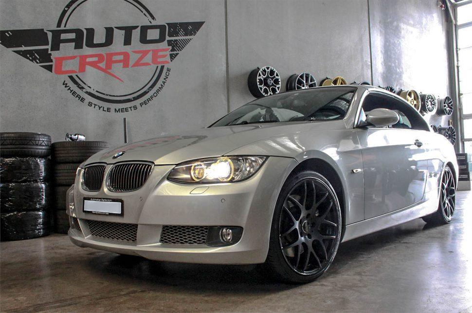 9e9740b4914 SILVER BMW E92 SSW MSPEC MATTE BLACK WHEELS FRONT SHOT ...