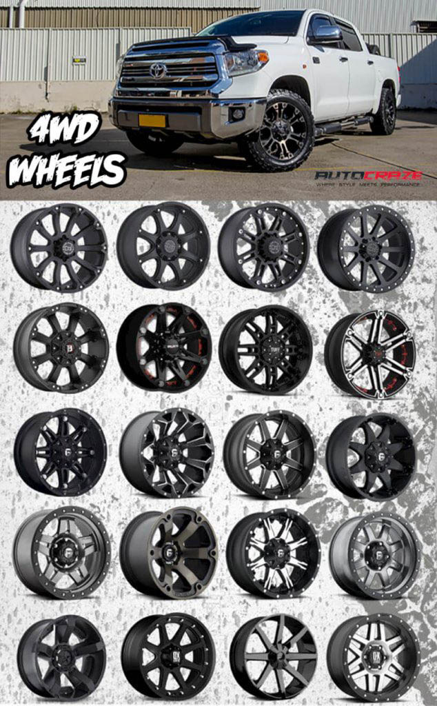 Showcase Multiple Toyota Tundra 4WD Wheels