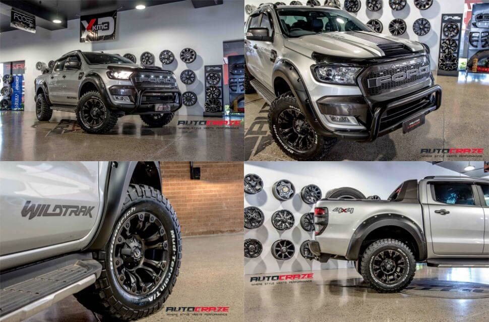 Silver Ford Ranger Fuel Vapor Black Machined Face Double Dark Tint Armed Ready Package