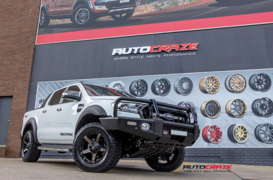 White Ford Ranger Diesel Exodus Wheels Nitto Terra Grappler Tyres Front Close Shot