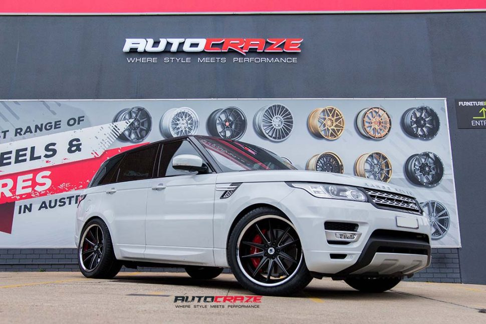range rover sport with asanti abl5 wheels and achilles tyres front wide angle shot march 2018