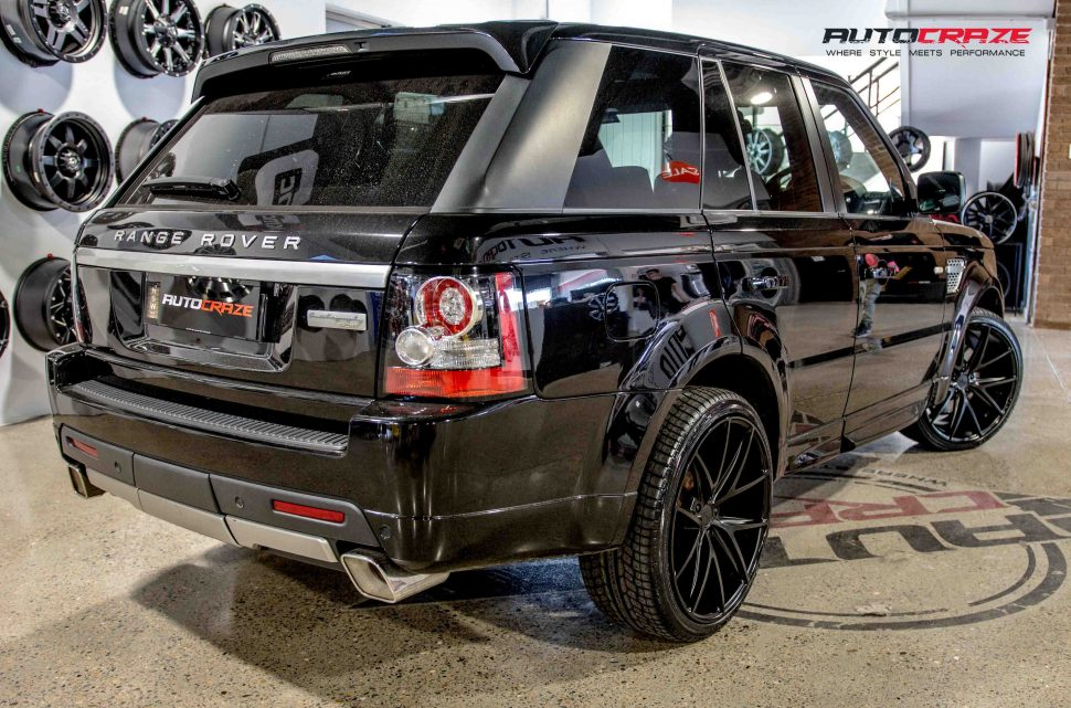range rover sport with niche misano wheels and achilles tyres rear wide angle shot march 2018