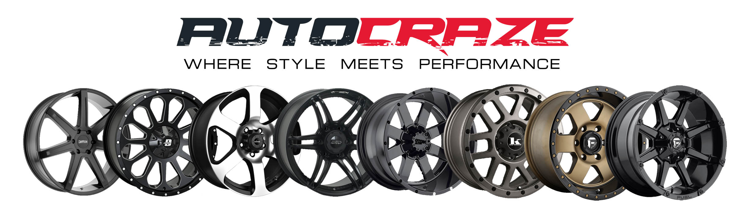 Autocraze logo with Rims Online pictures.