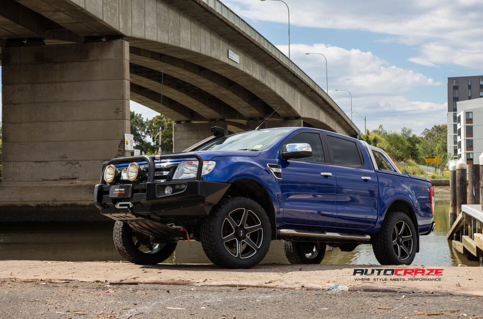 Ford Ranger Simmons S6S wheels nitto terra grappler tyres front wide angle shot february 2018