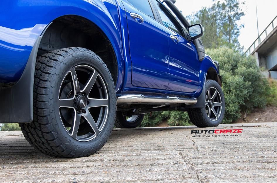 Ford Ranger Simmons S6S wheels nitto terra grappler tyres rear tyre close up shot february 2018