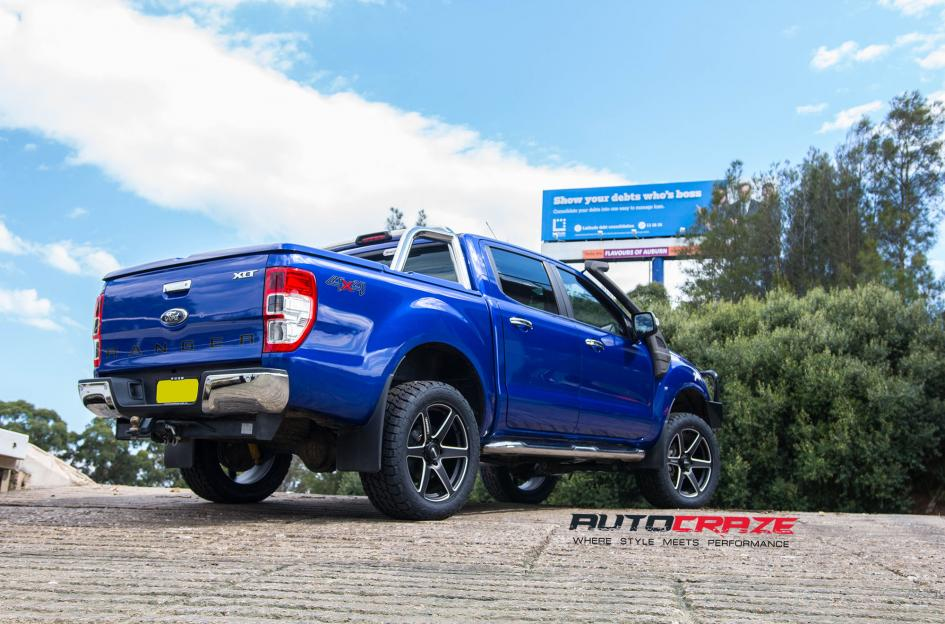 Ford Ranger Simmons S6S wheels nitto terra grappler tyres rear wide angle shot february 2018