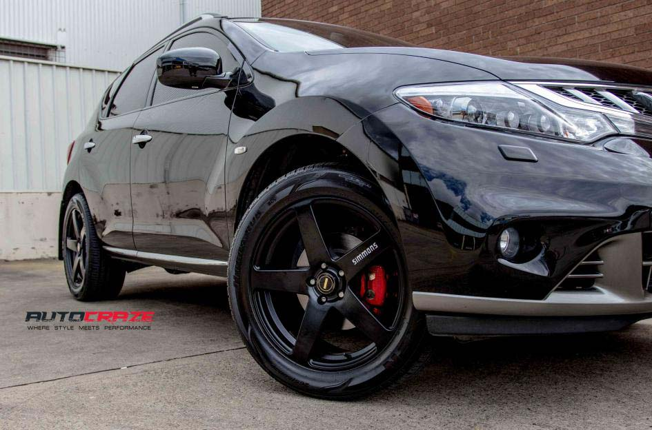 Nissan Murano with Simmons FRC wheels and Nexen tyres front wheel close up shot february 2018