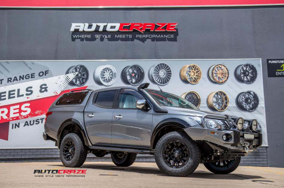 16Mitsubishi Triton with Fuel Vapor Wheels Toyo Open Country Tyres Front Close Shot Janurary 2018_large