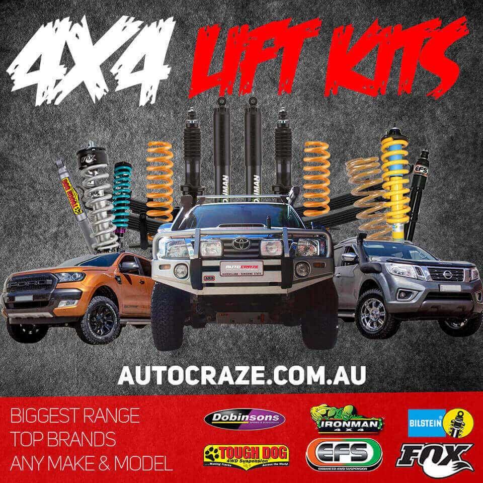 Showcase Lift Kit Mitsubishi Triton. Photo was taken at AutoCraze 5/95-99 Silverwater Rd NSW 2128.