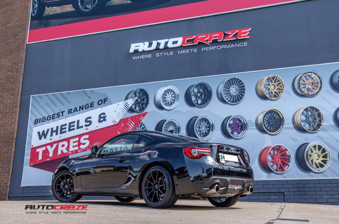 Toyota 86 King Halo Wheels Nitto Invo Tyres Rear Close Up Shot Gallery Janurary 2018