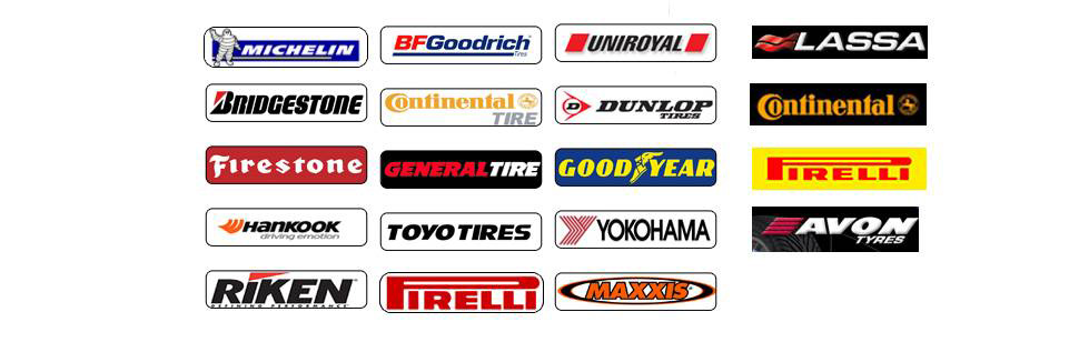 Showcase of multiple 4x4 tyre brands