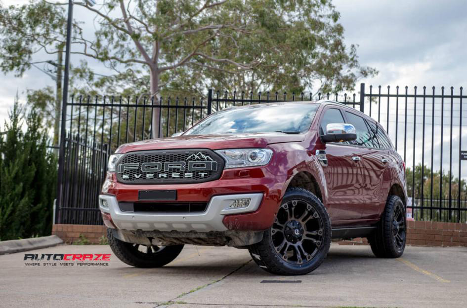 Ford Everest Red Fuel Vapor Toyo Open Country Wheels Tyres Custo