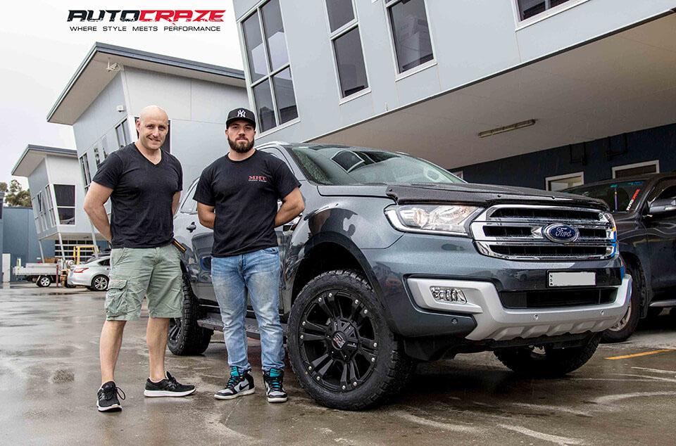 Grey Ford Everest KMC Monster 2 wheels customer shot