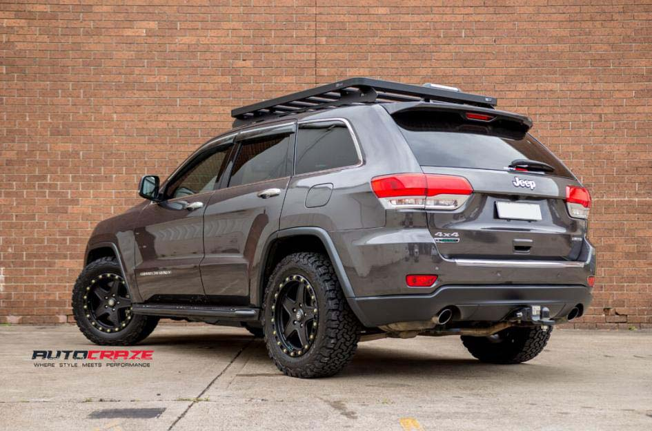 ... 13Jeep Grand Cherokee With American Racing ATX Ravine Wheels And BF  Goodrich Tyre Rear Close Up