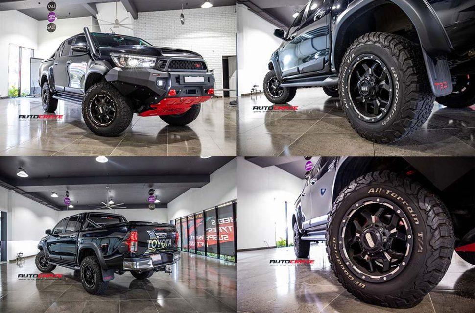 Black Toyota Hilux Grid GD07 Wheels BF Goodrich Tyres Grid Showcase