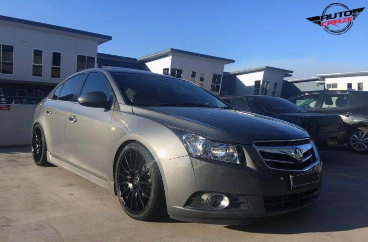 holden cruze with ox ox110 wheel and nitto invo tyre front wide angle shot february 2018