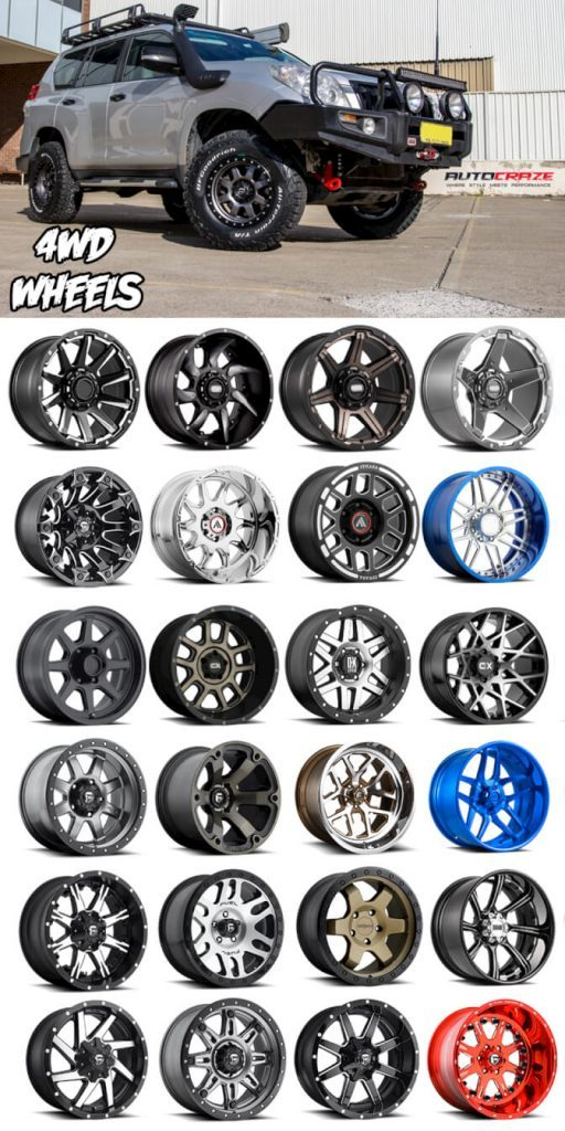 Showcase Multiple Toyota Landcruiser wheels
