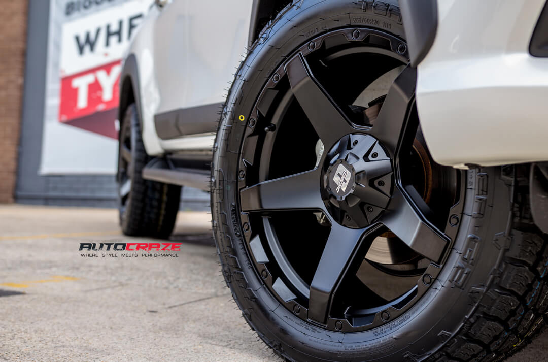 Toyota Hilux Diesel Exodus Wheels Nitto Terra Grappler Tyres Front Fitment Close Up Shot Gallery Janurary 2018