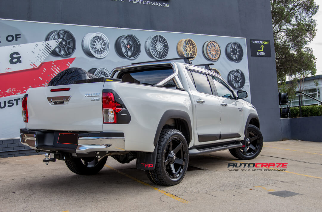 Toyota Hilux Diesel Exodus Wheels Nitto Terra Grappler Tyres Rear Close Up Shot Gallery Janurary 2018