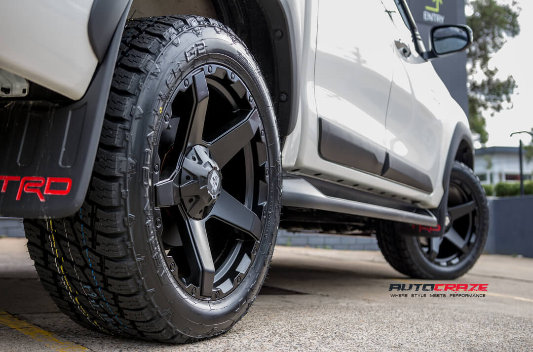 Toyota Hilux Diesel Exodus Wheels Nitto Terra Grappler Tyres Rear Fitment Close Up Shot Gallery Janurary 2018