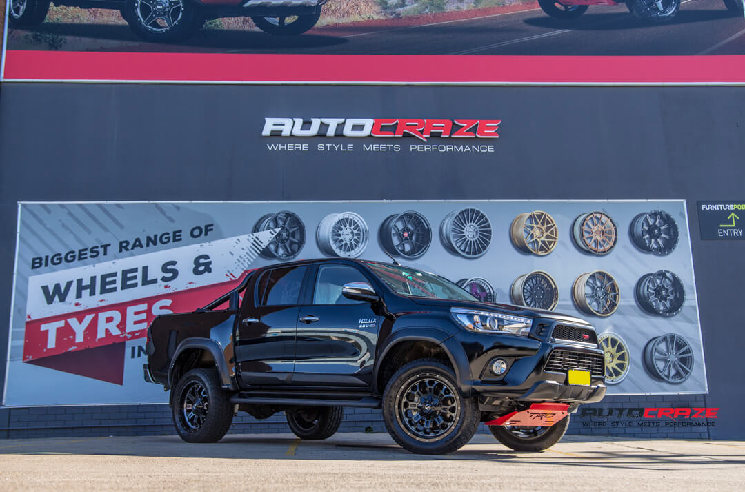 Toyota Hilux Fuel Crush Wheels Toyo Open Country Tyres Front Close Shot Gallery Janurary 2018