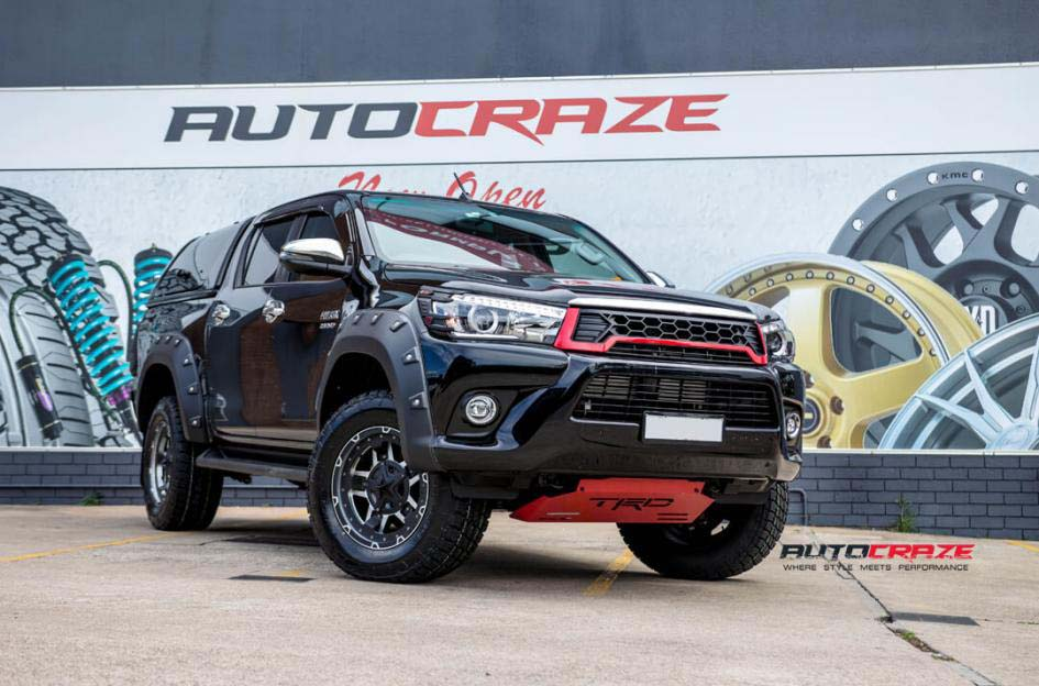 toyota trd with KMC Rockstar and nitto tyre front wide angle shot february 2018