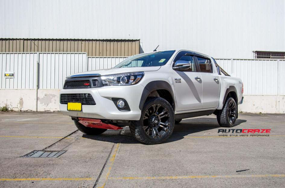 toyota trd with fuel vapor wheel and nitto tyre front wide angle shot february 2018