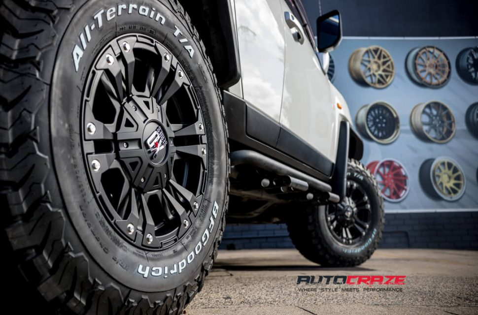 Toyota FJ Cruiser KMC XD Monster 2 Wheels BF Goodrich Tyres Rear Fitment Close Up Shot Gallery March 2018