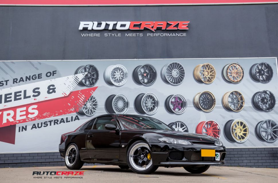 Nissan S15 Envisio RS1 Wheels Dunlop Tyres Front Close Shot Gallery Janurary 2018