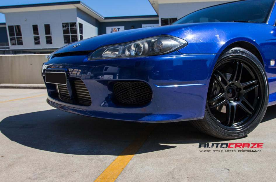 Nissan S15 with Koya SF01 Wheels and Nitto invo tyre front wheel close up Shot March 2018