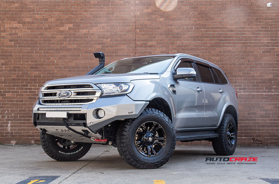 Ford Everest Diesel Brooklyn Wheels BFG Tyres Lift Kit Front Close Shot Gallery Sept 2018