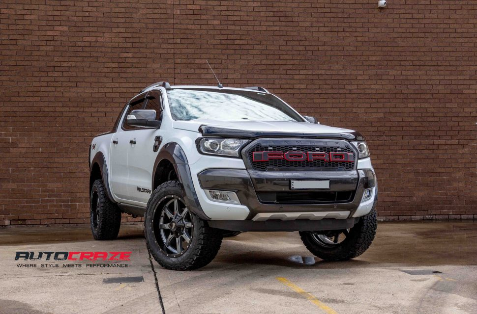 Ford Ranger with Moto Metal MO970 wheel and bf goodrich tyre front wide angle shot march 2018