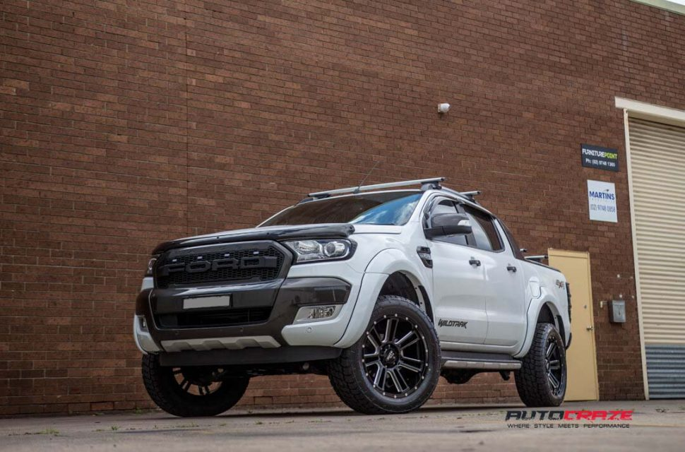 Ford Ranger with Moto Metal MO982 wheel and nitto terra grappler tyre front wide angle shot march 2018