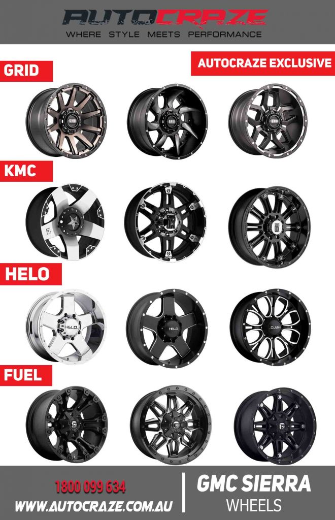 GMC SIERRA AUTOCRAZE EXCLUSIVE WHEELS