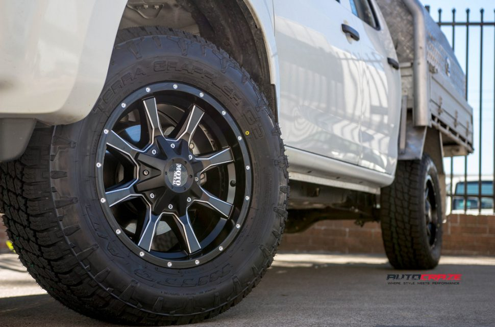 ISUZU DMAX with MOTO METAL mo970 wheel and nitto tyre front wheel close up shot march 2018