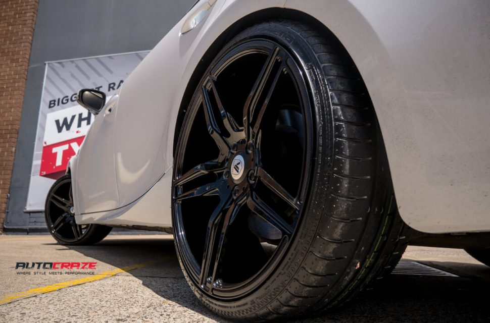 Lexus IS350 Asanti ABL12 Wheels Rear Fitment Close Up Shot Gallery February 2018