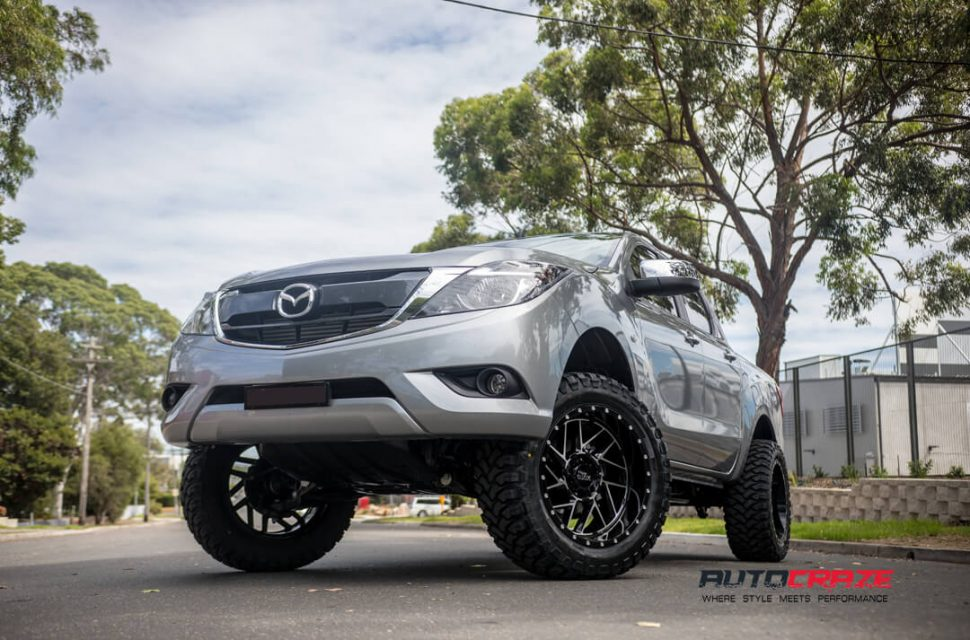Mazda BT-50 Moto Metal MO985 Wheels Front Close Shot Gallery February 2018