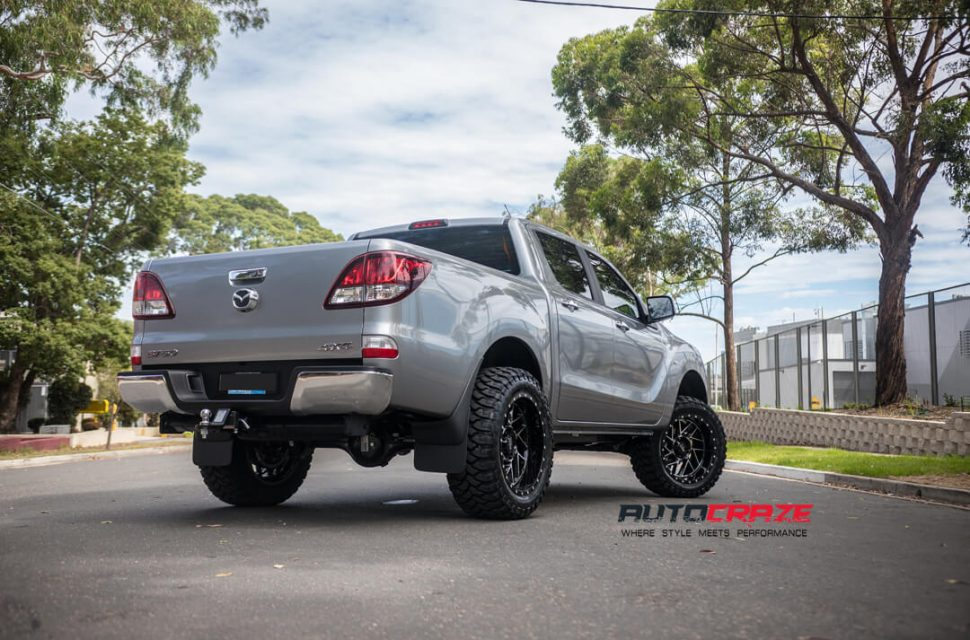 Mazda BT-50 Moto Metal MO985 Wheels Rear Close Up Shot Gallery February 2018